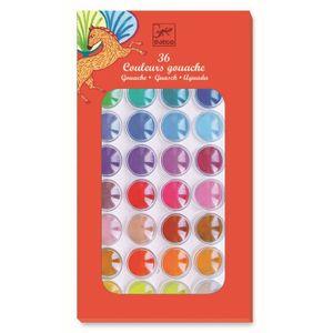 DJECO Farben: 36 Wasserfarben