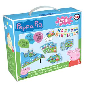 partypackung Peppa Pig junior Papier blau/rosa 51-teilig