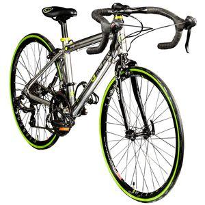 Galano Vuelta STI 24 Zoll Rennrad Jugendliche Jugendfahrrad 14 Gang , Farbe:silber, Rahmengröße:35.5 cm