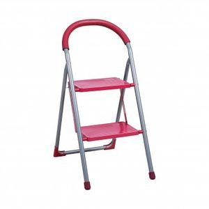 Klapptritt, Eisen, 2 Stufen, pink