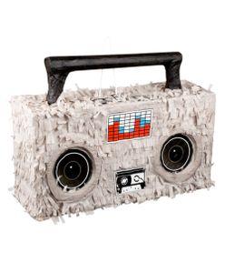 Boland piñata stereo-blaster 52 x 35 cm Papier grau/schwarz