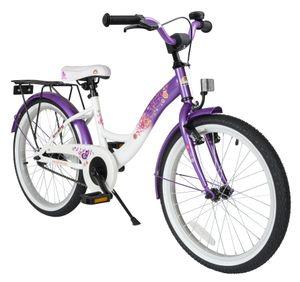 BIKESTAR Kinder Fahrrad ab 6 Jahre | 20 Zoll Classic Kinderrad | Lila & Weiß