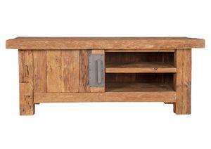 SIT Möbel Lowboard   1 Tür, 2 offene Fächer   recyceltes Teak natur   B 130 x T 45 x H 50 cm   04415-01   Serie CORAL