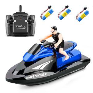 809 RC Motorboot RC Boot Hochgeschwindigkeitsfernbedienungsboot fš¹r Pools Lakes 2,4 GHz Wasserdichtes Spielzeug fš¹r Kinder Jungen und M?dchen