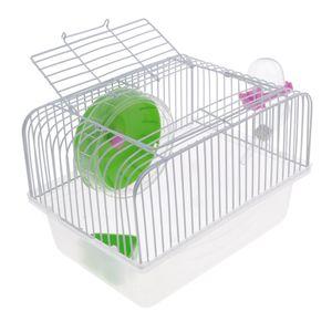 Portable Haustier Hamster Käfig Meerschweinchen Gerbils Mäusehaus mit Ferse Farbe Grün