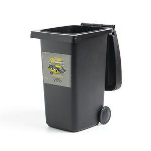 Mülltonnenaufkleber - Raceauto - Vlag - Retro - 40x40 cm