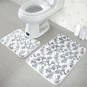 Badezimmerteppich Set Rutschfeste Badematte Rutschfeste Waschbare
