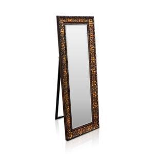 Rococo by Casa Chic Wandspiegel - 130 x 45 cm - Kohlefarben und Gold - Großer Standspiegel