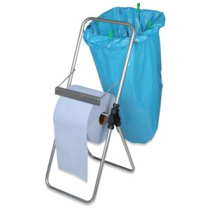 Papierrollenständer mit Müllsackhalter