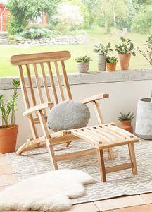Gartenliege klappbar Teakholz Deckchair 145 cm PUCCON