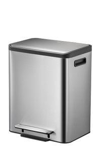 EKO pedalbehälter EcoCasa Abfalltrenner 15 + 15 Liter Edelstahl