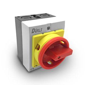 ARLI Hauptschalter 16A 4-polig mit Kunststoffgehäuse 4P16A-G