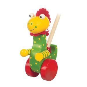 NICI Schiebetier Dinosaurier, Babyspielzeug, Spielzeug, Tier, Orange Tree Toys, Holz, Bunt, 46003