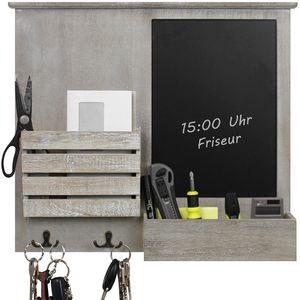 Wandorganizer 'Blackboard' mit Tafel, Ablagen und Metallhaken