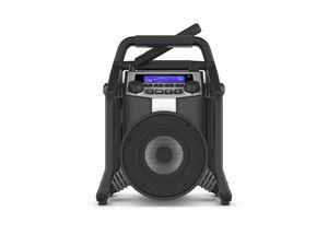 PerfectPro Baustellenradio Powerplayer DAB+, Bluetooth und UKW-Empfang, Radio mit AUX und USB-Eingang, Mit Akku, Geeignet als Bluetooth-Lautsprecher