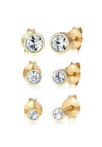 Elli Ohrringe Stecker Set Kristalle Basic 925 Silber Gold