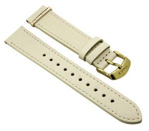Timex Damen Fairfield > Uhrenarmband 18mm beige Leder > TW2R70500
