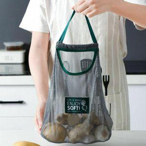5x Obst- und Gemüsebeutel Wiederverwendbare Gemüsenetz hängende Einkaufsbeut