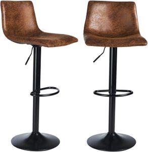 2er Barhocker Set Barstühle Barstuhl höhenverstellbar mit lehne drehbar Esszimmerstühle Küchenhocker verstellbar Bistrohocker 360° Drehstuhl Tresenhocker