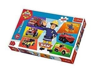 Trefl Puzzle Feuerwehrmann Sam - 100 Teile - Sam's Fahrzeug