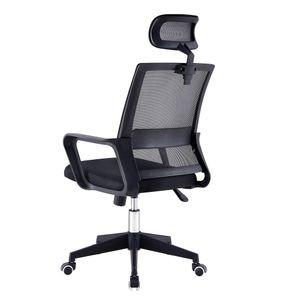 Bürostuhl, Ergonomischer Schreibtischstuhl, Höhenverstellbarer Drehstuhl mit Leisen Rollen und Verdicktem Sitzkissen, Einstellbare Armlehne Kopfstütze und Lendenstütze, Chefsessel bis 150 kg