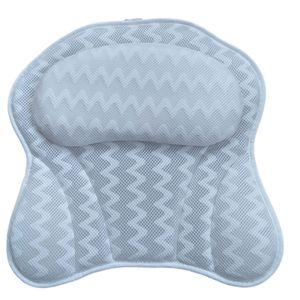 Gemütliches Badekissen für Männer und Frauen , ergonomisches Badewannenkissen für Hals, Kopf, Schultern, mit gestepptem Luftgitter