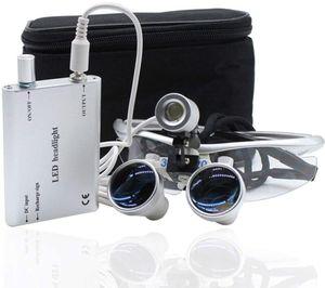 LED Headlight Dental Lupenbrille Lupen Surgical Binokularlupen Kopflupe Vergrößerungsglas 3.5X 420mm