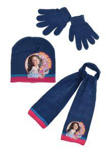 Disney SoyLuna Kinder Winter-Set 3-tlg. Winter-Mütze Schal Handschuhe, Größe:54