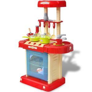 vidaXL Kinderküche Spielküche mit Licht- und Soundeffekten