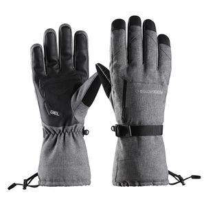 Skihandschuhe Snowboard Handschuhe Winterhandschuhe Reflektierend Wasserdicht Sporthandschuhe mit Touchscreen-Fingerspitzen für Damen und Herren Größe M