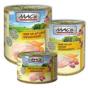 6 x 200g MAC's Cat Huhn mit ganzen Geflügelherzen