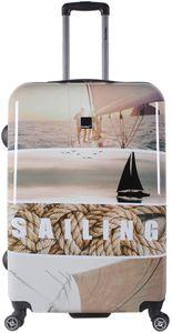Saxoline Reise Koffer Trolley Sailing Meer 4 Rollen 67 cm medium bei Bowatex