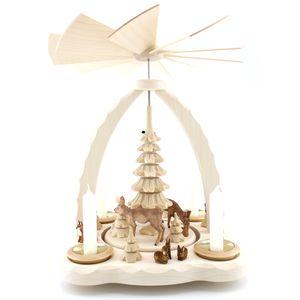 Teelichtpyramide, Modell:mit Rehen