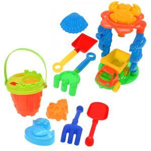 12tlg. Sandspielzeug Set Sandkasten Spielzeug LKW Strandspielzeug Eimer Formen Schaufel Sand Strand Eimergarnitur