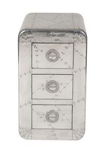 SIT Möbel Kommode | 3 Schubladen | Mango-Holz und MDF | Beschläge Aluminium silber | B 45 x T 40 x H 80 cm | 01711-21 | Serie AIRMAN