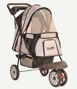 InnoPet® Hundebuggy All Terrain Pet Stroller Hundewagen Hundebuggy Anhänger silver/black