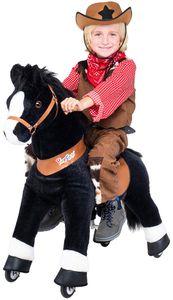 """Ponycycle """"Black Beauty"""" Pferd medium Schaukelpferd auf Rollen Pony mit Sound (U-Serie Modell 2021)"""