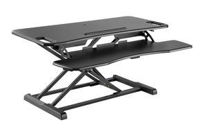 Sit-Stand Workstation, Höhenverstellbarer Sitz-Steh-Schreibtisch Aufsatz GTS-012