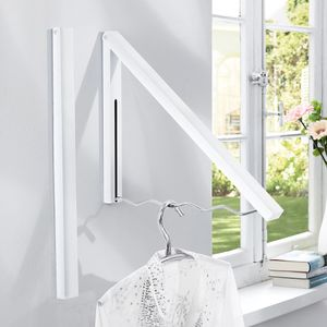 Garderobe 'Kroko' weiß Wandgarderobe Kleiderständer Eisen 42 cm breit