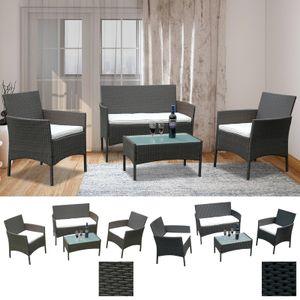 Karpal Gartenmoebel Lounge Set Garnitur Relax-Lounge Sofa Balkon Sitzgruppe Tisch Glas