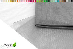 2m Organza Stoff 150cm , Farbauswahl:silber / grau 077