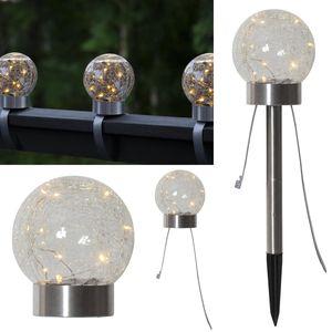 LED Solar Dekoleuchte 3in1 Glory - 10 warmweise LED - H: 35cm - Dämmerungssensor