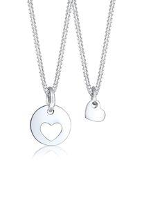 Elli Halskette Herz Mutter Kind Liebe Cut Out Münze 925 Silber Silber