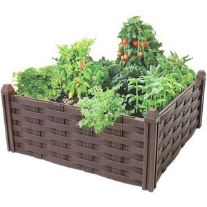 Pro Garden bauernrahmen Gartenbett 45 x 21 cm braun 4-teilig