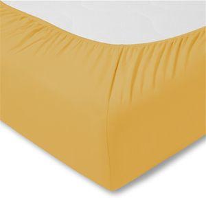 Estella Zwirnjersey-Spannbett-Tuch 6900 Farbe 700 gold, 200x200cm