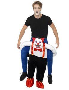 Herren Kostüm Horror Clown Huckepack Halloween