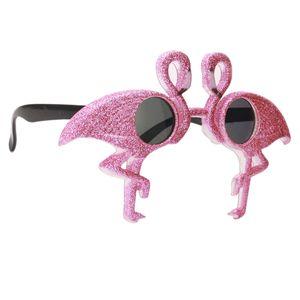 Flamingo Fotorequisiten Partybrille Sonnenbrille Dekobrille Spaß Brille Gläser für Hochzeit Partei Dekorationen Farbe Flamingo