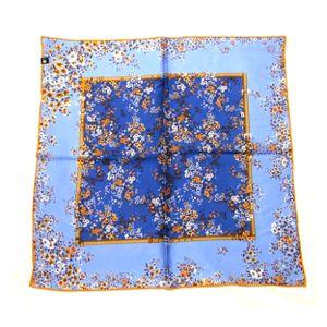 FRAAS Nickituch Halstuch Blumenmuster Floralprint blau Seide 53x53 cm