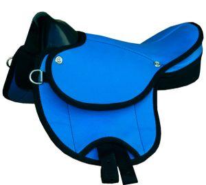 Pony-Shettysattel Little Emily-auch für Holzpferde geeignet TOP Ausführung, Farbe:dunkelblau