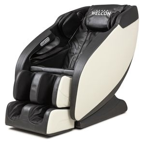 Massagesessel WELCON Prestige II Longlife Kunstleder schwarz / weiß